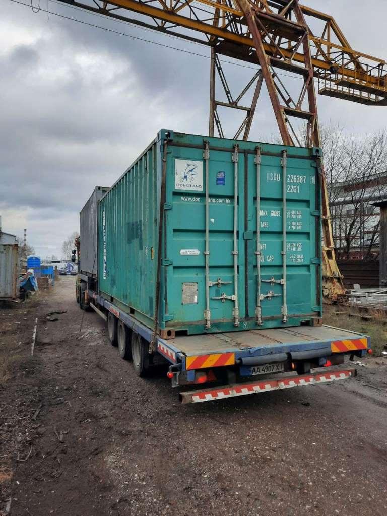 20 футовый линейный контейнер погрузка
